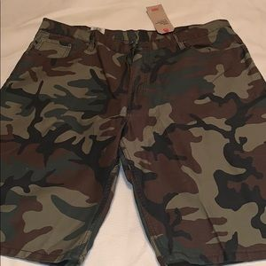 Levi's 569 loose fit denim shorts men's